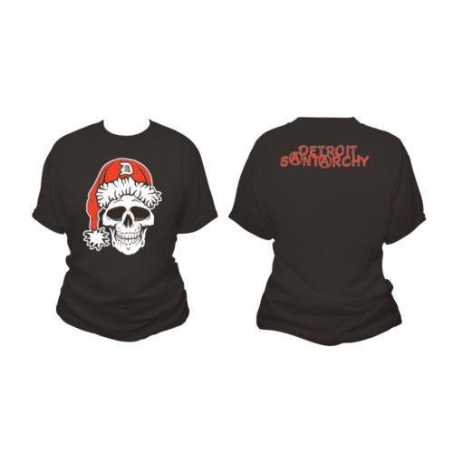 detroit santarchy skull women's t shirt both