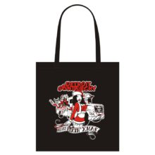 Merry F-N Xmas tote bag black