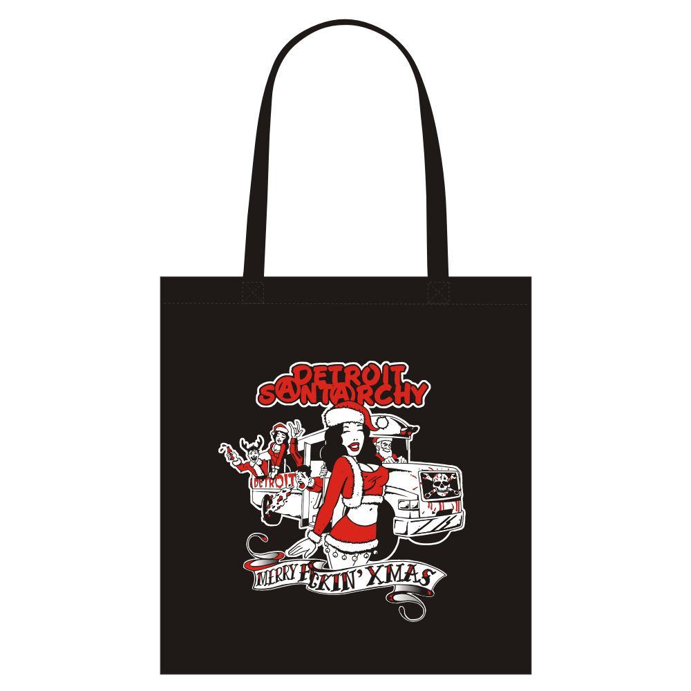 Merry F-N Xmas tote bag black