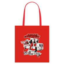 Merry F-N Xmas tote bag red