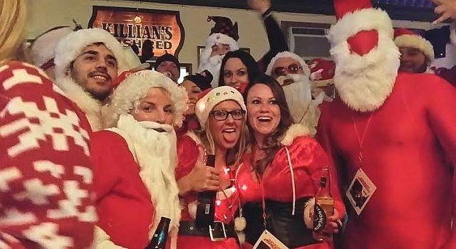 can santa party?